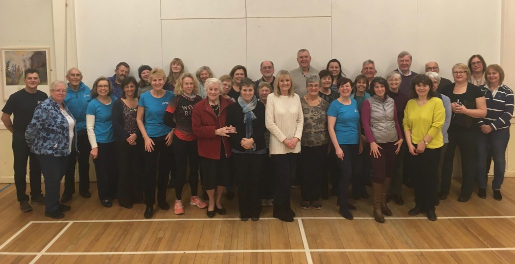Edgbaston Tuneless Choir on launch night