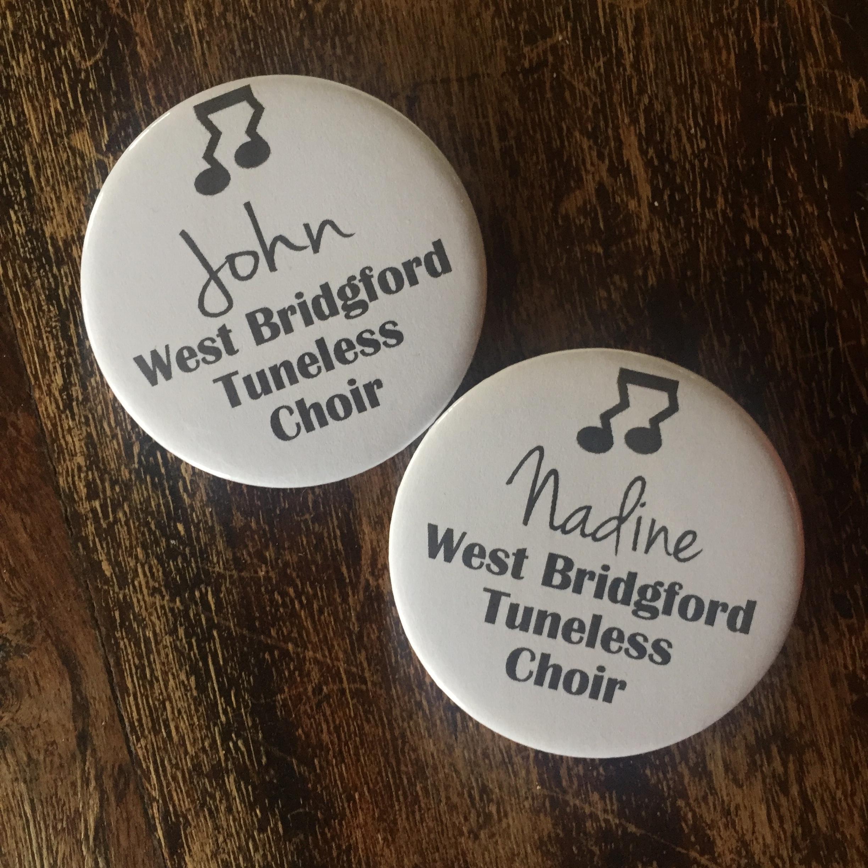 Tuneless Choir Name Badges