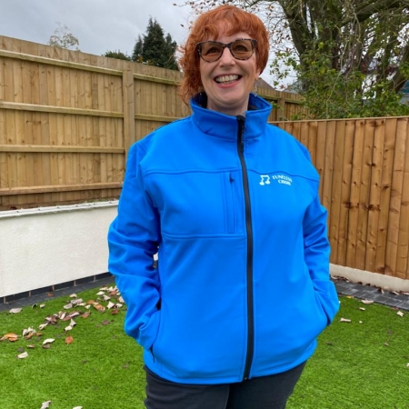 Ladies Soft Shell Jacket in Azure